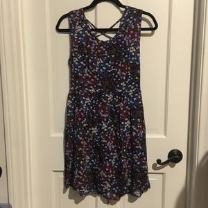 Forever 21 Blue with Red and white flowers dress